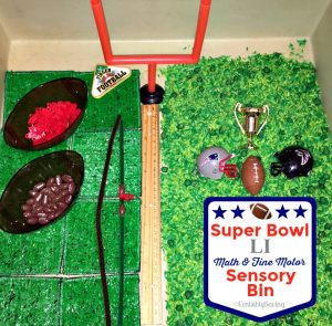 Super Bowl LI Football Sensory Bins