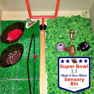 Super Bowl football sensory bin
