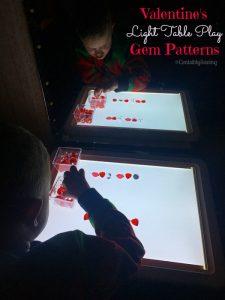 Valentine's Light Table Gem Patterns