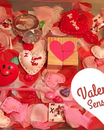 Valentine's Hard & Soft Sensory Bin