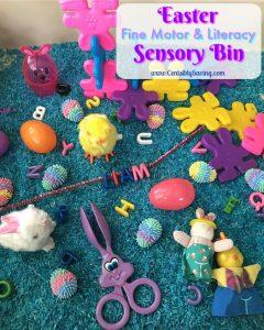 Easter Sensory Bin: Fine Motor & Literacy