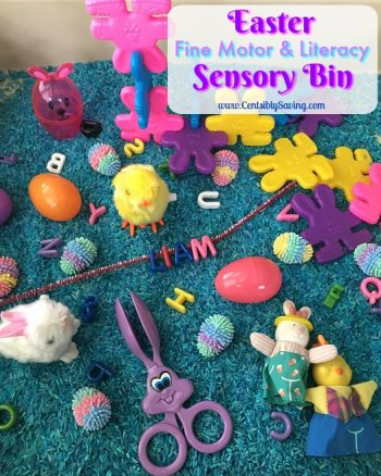 Easter Fine Motor and Literacy Sensory Bin