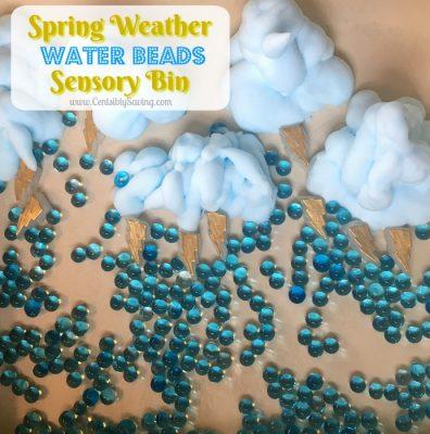 Spring Weather Sensory Bin: Water Beads