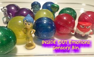 Inside out sensory bin