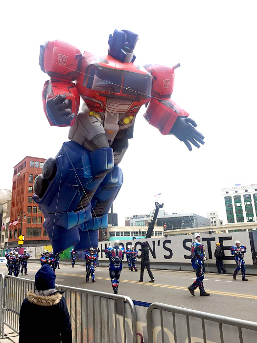 Detroit Thanksgiving Parade Optimus Prime