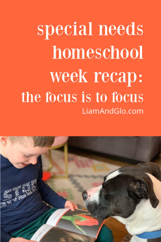 Special Needs Homeschool Week In Review 1