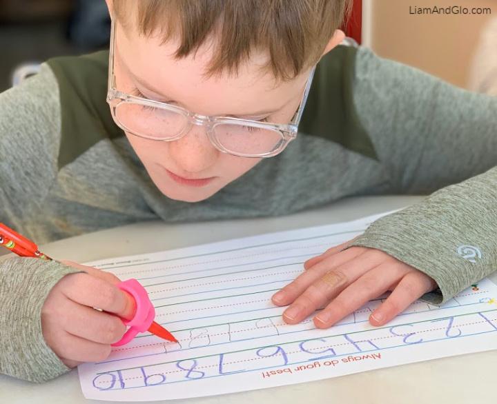Number writing practice special needs homeschool