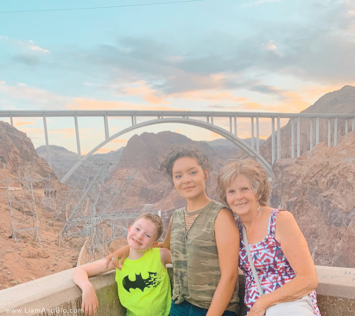 Liam and Glo and madre at Hoover Dam