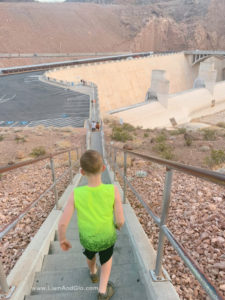 Walking stairs to Hoover Dam Liam And Glo